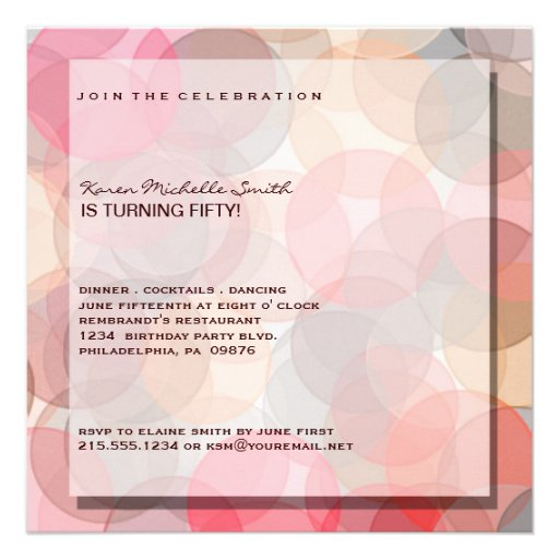 50.a invitación moderna minimalista de la fiesta d