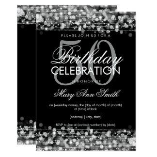 50.a plata elegante de las chispas de la fiesta de invitación 12,7 x 17,8 cm