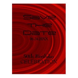50.a reserva del cumpleaños del rojo la fecha postal