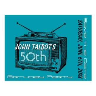 50.a reserva del cumpleaños del vintage TV la Postal