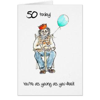 50.a tarjeta de cumpleaños alegre para un hombre