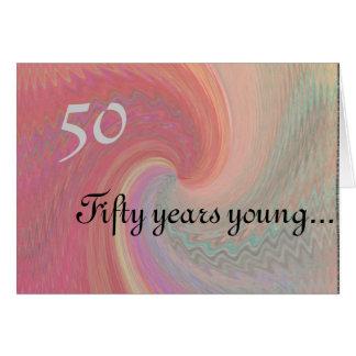 50.a tarjeta de cumpleaños exquisita con el poema