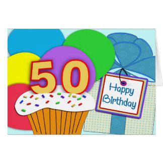 50.a tarjeta de cumpleaños feliz