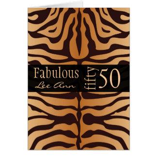 50.a tarjeta de cumpleaños personalizada para el n
