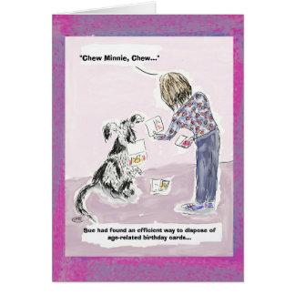 Tarjeta 50.a tarjeta de felicitación divertida del dibujo