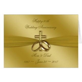50.a tarjeta de oro religiosa del aniversario de