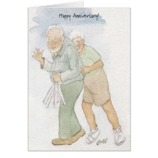 50.a tarjeta feliz del aniversario