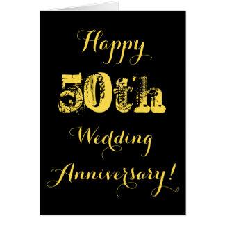 50.a tarjeta feliz del aniversario de boda