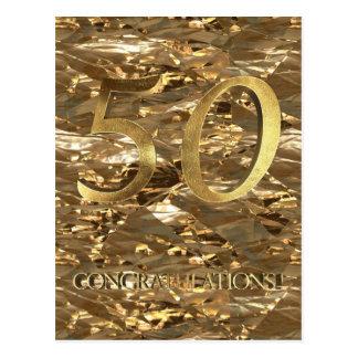 50.a tipografía del oro del aniversario del número postal