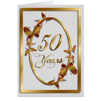 50 años (aniversario) tarjeta de felicitación