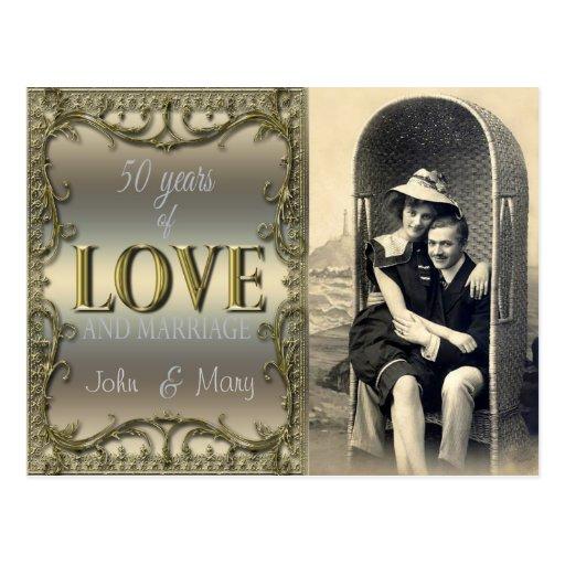 50 años de amor tarjetas postales