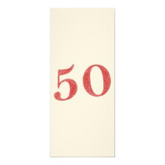 50 años de aniversario invitación 10,1 x 23,5 cm