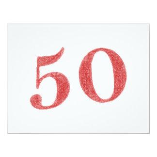 50 años de aniversario invitación 10,8 x 13,9 cm