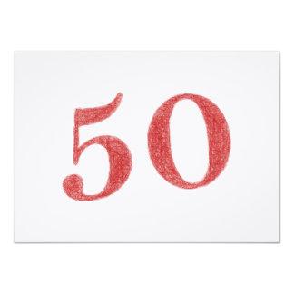 50 años de aniversario invitación 11,4 x 15,8 cm