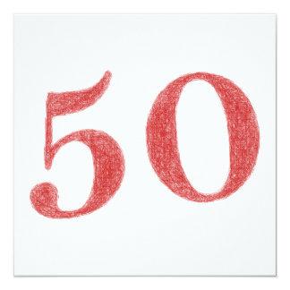 50 años de aniversario invitación 13,3 cm x 13,3cm