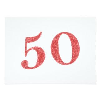 50 años de aniversario invitación 13,9 x 19,0 cm