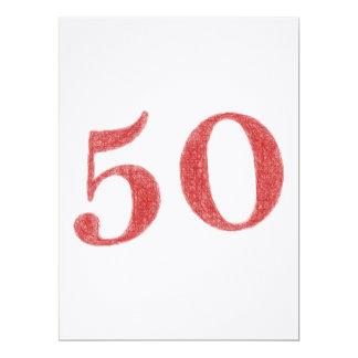 50 años de aniversario invitación 16,5 x 22,2 cm