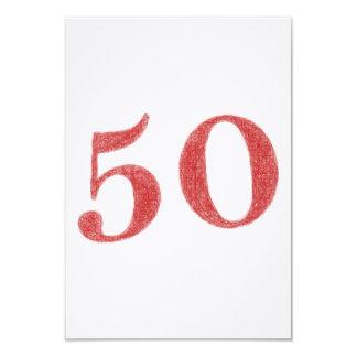 50 años de aniversario invitación 8,9 x 12,7 cm