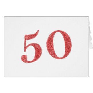 50 años de aniversario tarjeta de felicitación