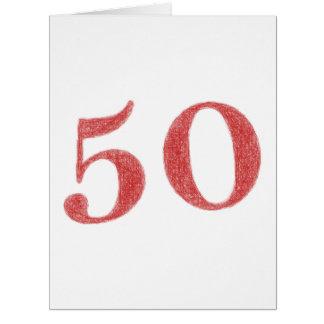 50 años de aniversario tarjeta de felicitación grande