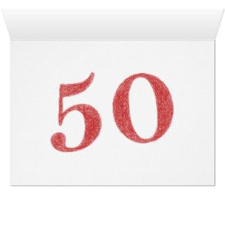 50 años de aniversario tarjeta pequeña