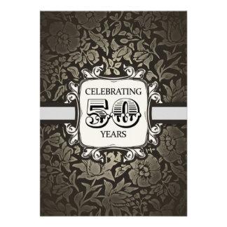 50 años de boda del aniversario de vintage del dam