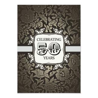 50 años de boda del aniversario de vintage del invitación 12,7 x 17,8 cm