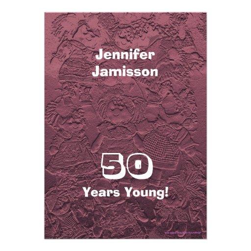 50 años de cumpleaños de la fiesta de invitaciones comunicado
