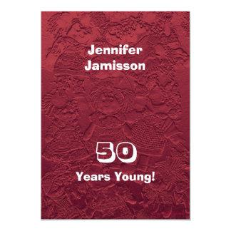 50 años de cumpleaños de la fiesta de invitaciones invitación 12,7 x 17,8 cm