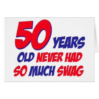 50 años de diseño tarjeta de felicitación