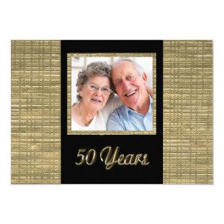 50 años de invitación del aniversario con el parte