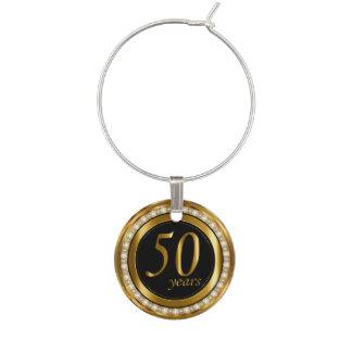 50 años de oro de aniversario identificadores de copas