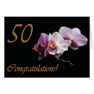 50 años del aniversario de boda del cumpleaños tarjeta de felicitación