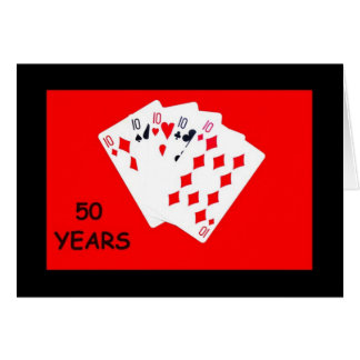 50 años son una tarjeta del aniversario de la gran