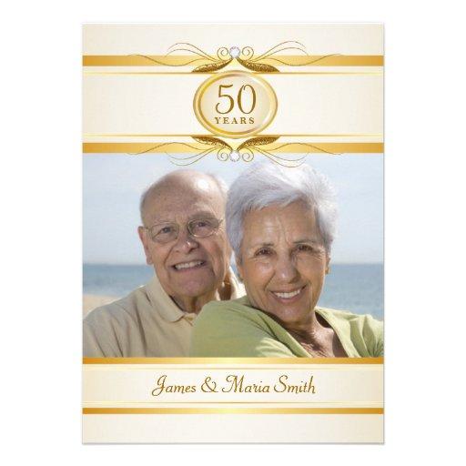 50.as invitaciones de la fiesta de aniversario del invitacion personalizada