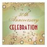 50.as invitaciones del aniversario de boda del invitación 13,3 cm x 13,3cm