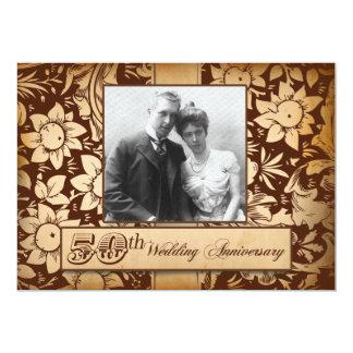 50.as invitaciones del aniversario de boda del invitación 12,7 x 17,8 cm