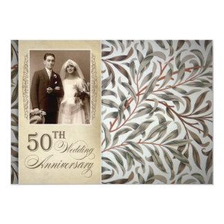 50.as invitaciones del aniversario de boda invitación 12,7 x 17,8 cm