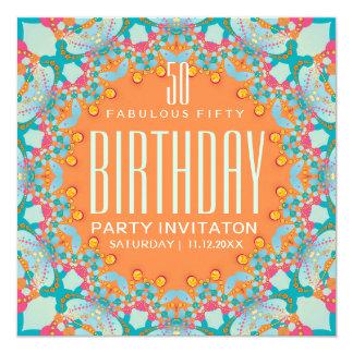 50.as invitaciones del cumpleaños del bohemio