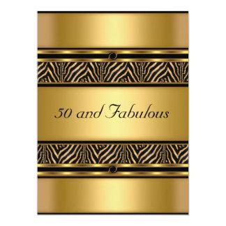 50 e invitación fabulosa de la fiesta de