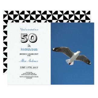 50 e invitación fabulosa de la foto del cumpleaños