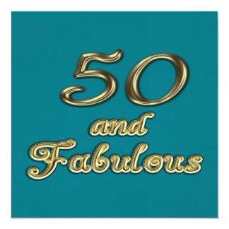 50 e invitación fabulosa del fiesta