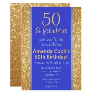 50 elegantes y 50.a invitación fabulosa del