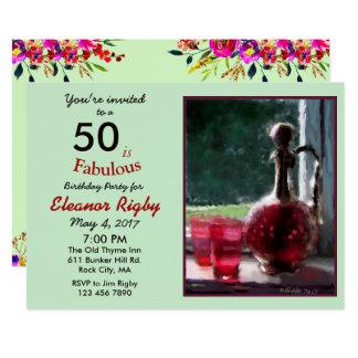 50 es 50.a invitación fabulosa del cumpleaños
