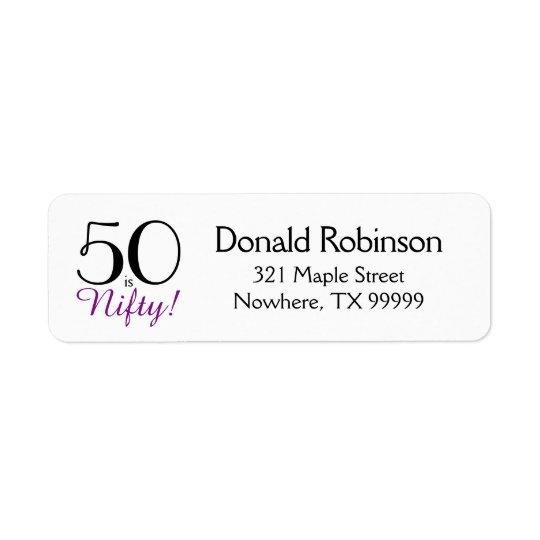¡50 es hábiles! 50.o Etiqueta del remite del
