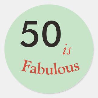50 es obra clásica redonda del pegatina fabuloso