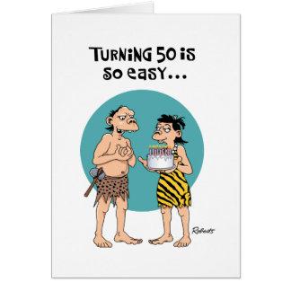 50 es tarjeta de cumpleaños tan fácil