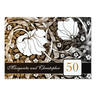50 invitaciones del aniversario de boda de oro invitación 12,7 x 17,8 cm