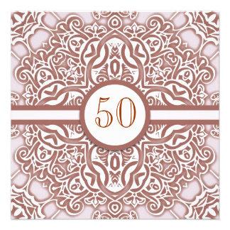 50 invitaciones del damasco del aniversario de bod comunicado personal