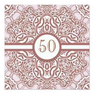 50 invitaciones del damasco del aniversario de invitación 13,3 cm x 13,3cm